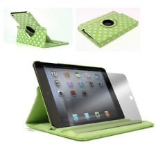 CASE COVER+SCREEN PROTECTOR SWIVEL FOLD FRONT+BACK PU GREEN DOT IPAD 2ND 3RD 4TH