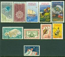 EDW1949SELL : COMOROS Collection of 10 different Better. Very Fine Used. Cat $83