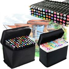 80 Color Set Markers Pen Touch Five Graphic Art Sketch Twin Tip Free Glove US