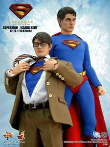 1/6  HOT TOYS MMS50 SUPERMAN RETURNS KAL-EL CLARK KENT 2 IN 1 VERSION FIGURE
