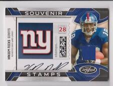 HAKEEM NICKS 2009 LEAF CERTIFIED SOUVENIR STAMPS JERSEY AUTO RC #D 16/20