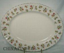 """ROYAL ALBERT china WINSOME pattern OVAL MEAT Serving PLATTER 13"""""""