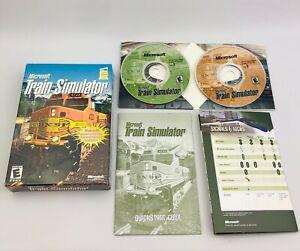 Microsoft Train Simulator 1.0 (PC, 2002) - Complete