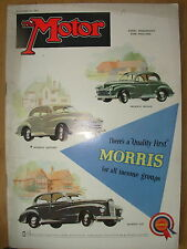 VINTAGE MOTOR MAGAZINE DECEMBER 17 1952 MORRIS MINOR MORRIS OXFORD MORRIS SIX