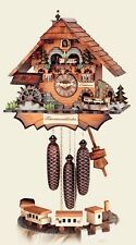 HUBERT HERR German Handcarved Wall Clock Cuckoo Clock - Chimney Sweep w/ Train