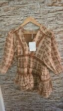 Free People Timed Out Lace Tunic Tunic Top Size XS UK 6-8 rrp £54 ex-sample new