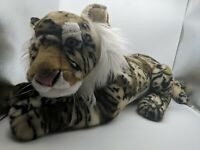 "Giant Tiger Lifelike Stuffed Animal Plush Toy 26"" long"