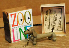 "Zoo-Line Bojesen Match Box 1958 2 3/8"" Dachshund Mint In Box With Coupon Japan"