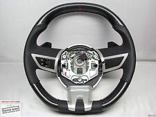 Chevy Camaro SS 5th Gen Jewel Red Perforated Flat Bottom CARBON STEERING WHEEL