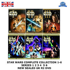 STAR WARS SERIES 1-6 COMPLETE COLLECTION 1 2 3 4 5 6 NEW SEALED UK REGION 2 DVD