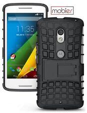 Mobier ShockProof Armor Cover Kickstand Back Case For Motorola Moto X Play BLACK