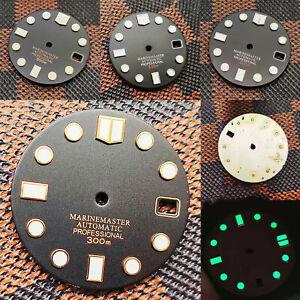 28.5MM Matte Texture Dial C3 Green Luminous Dial for SKX007 NH35 Watch Movement