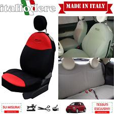 FODERE 500 SU MISURA! COPRISEDILI 500 Fiat Foderine 500 COMPLETE Rosso/Nero