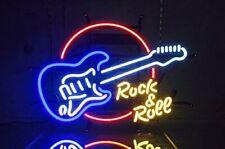 "New Rock Roll Guitar Neon Light Sign 20""x16"" Lamp Bar Glass Decor Beer Bedroom"