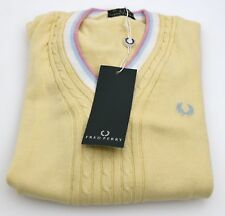 FRED PERRY WOMAN PULLOVER SWEATER V NECK SPRING LONG SLEEVE CODE 31412181