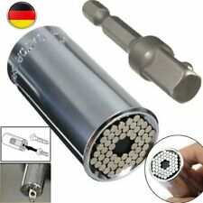 7-19mm Gator Grip Universal Socket Wrench Spanners + Power Drill Adapter Tool DE