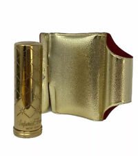 Imperial Formula NY Lipstick Case Holder Mirror Gold Ornate Petal Pink Moisture