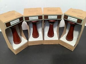 Allen + Roth Wood Holdback #275045 Set Of 4 Mahogany New In Box 5 Inches Tall