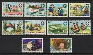 """NICARAGUA  1975  """"Nordjamb 75"""" World Scout Jamboree, Norway.  MNH"""