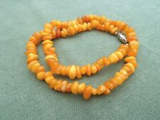 Genuine AMBER Chip Necklace with metal clasp