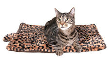 Thermal Cat Pet Dog Warming Bed Mat - BEIGE, BLUE, or GREY (Leopard Motif)