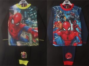 SPIDER-MAN Pyjamas / Boy's PJs - 2 Styles to Choose From - Sizes 4-10 Years