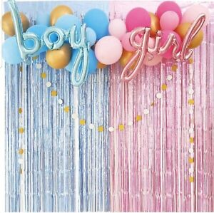 FOIL FRINGE CURTAIN BALLOON WEDDING BIRTHDAY BABY SHOWER CONFETTI PARTY KIT UK
