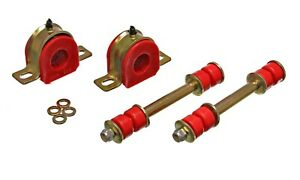 """82-04 S10 S15 Blazer Suspension Front Sway Bar Bushings w/ End Links 1 1/8"""" RED"""