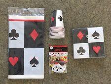 Poker fiesta set servilletas vaso mantel confeti