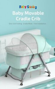 Baby Cradle, Newborn Bed, Multi Function Mobile Foldable, Mosquito Net, Crib