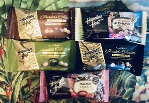 Hawaiian Host Chocolate Covered Macadamia Nuts Variety Pack of 5 FREE SHIPPING
