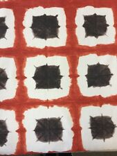 Harlequin Scion Shoji Terracota/chocolate de tela de algodón por metros