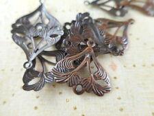 60 Antique Copper Art Deco 2 Loop Connectors 38500