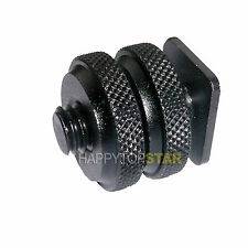 "Pro Type UNC 3/8"" inch Tripod Screw to Flash Hot Shoe Hotshoe Adapter Bracket"