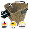 Fahrradkorb Weidenkorb Natur-Stroh Gepäckträgerkorb mit Klick-System Vorbau