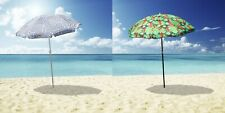 Outdoor Beach Umbrella Tropical 1.8m Sun Shade w/ Carry Bag Tilt Pool Fishing