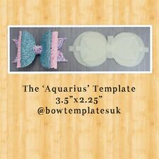 Hairbow template, bow template, DIY hairbow set, plastic bow stencil