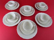 ROSENTHAL Sanssouci Elfenbein 6x Kaffeeservice Teeservice Teller Tasse Service