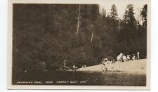 1920s RPPC Postcard of Bathers at Swimming Pool by Forest Glen Inn CA