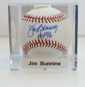 Jim Bunning HOF 96 Signed Autographed OML Baseball Auto Senate Phillies JSA Cert