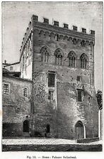Siena:Duomo: Cattedrale di Santa Maria Assunta.Stampa Antica + Passepartout.1895