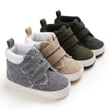 Newborn Baby Boys Crib Shoes Toddler High Top Boots Trainers Infant Warm Booties