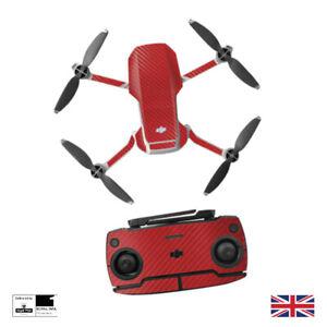 Red Carbon Fiber Waterproof PVC Stickers Decal Skin DJI MAVIC Mini Drone