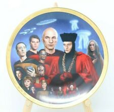 Star Trek The Next Generation Encounter at Farpoint Collector Plate w/Coa