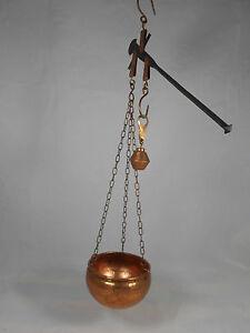 Bilancia in rame old copper balance  pesa libra bascula stadera  20x20  L 35 cm