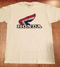 HONDA t-shirt MEDIUM motorcycle cbr wing crf RED WHITE BLUE RETRO