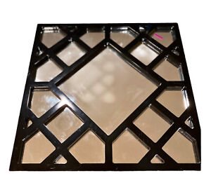 Howard Elliott Collection Mirror 92004 Anakin Black Lattice 20x20 Square