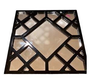 Howard Elliott Collection Mirror 92004 Anakin Black Lattice 20x20 Square