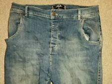 SikSilk drop crotch Ripped Jeans, Blue, 34 Medium, Ok Condition