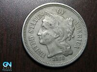 1868 3 Cent Nickel Piece    BETTER GRADE!  NICE TYPE COIN!  #B6687